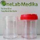 Pot Urine 60 ml Tutup Merah Non Sterile