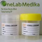 Pot Urine Sterile 60ml Tutup kuning GP
