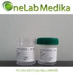Pot Urine 60ml Tutup Hijau LABWARE