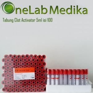Tabung Clot Activator 5ml isi 100