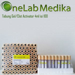 Tabung Gel + Clot Activator 4ml isi 100