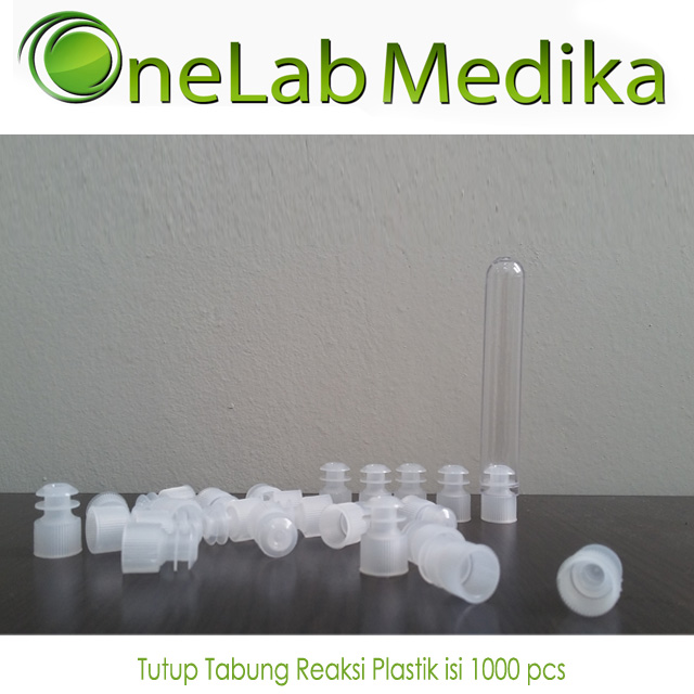 Tutup Tabung Reaksi Plastik isi 1000 pcs