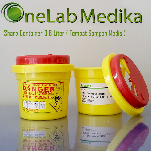 Sharp Container 0,8 Liter Tempat Sampah Medis