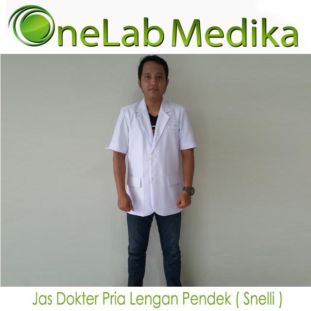 Jas Dokter Pria Lengan Pendek ( Snelli )