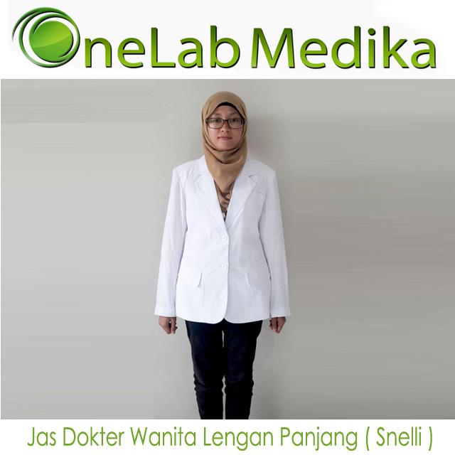 Jas Dokter Wanita Lengan Panjang ( Snelli )