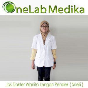 Jas Dokter Wanita Lengan Pendek ( Snelli )