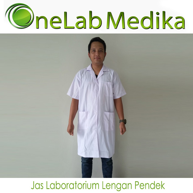 Jas Laboratorium Lengan Pendek