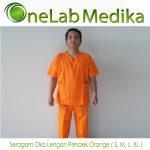 Seragam Oka Lengan Pendek Orange ( S M L XL )