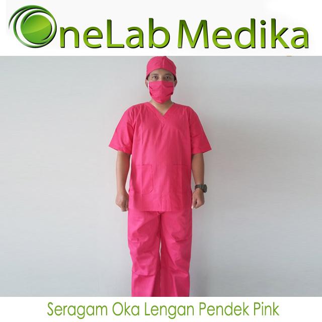 Seragam Oka Lengan Pendek Pink