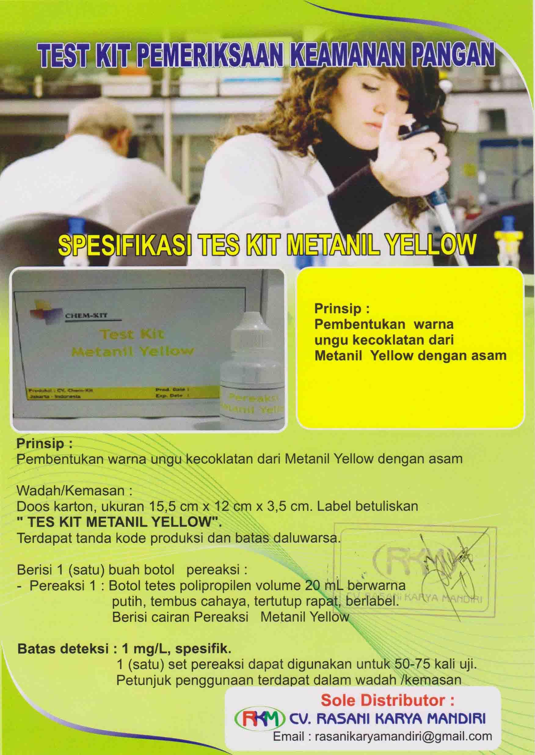 methanil yellow chemkit