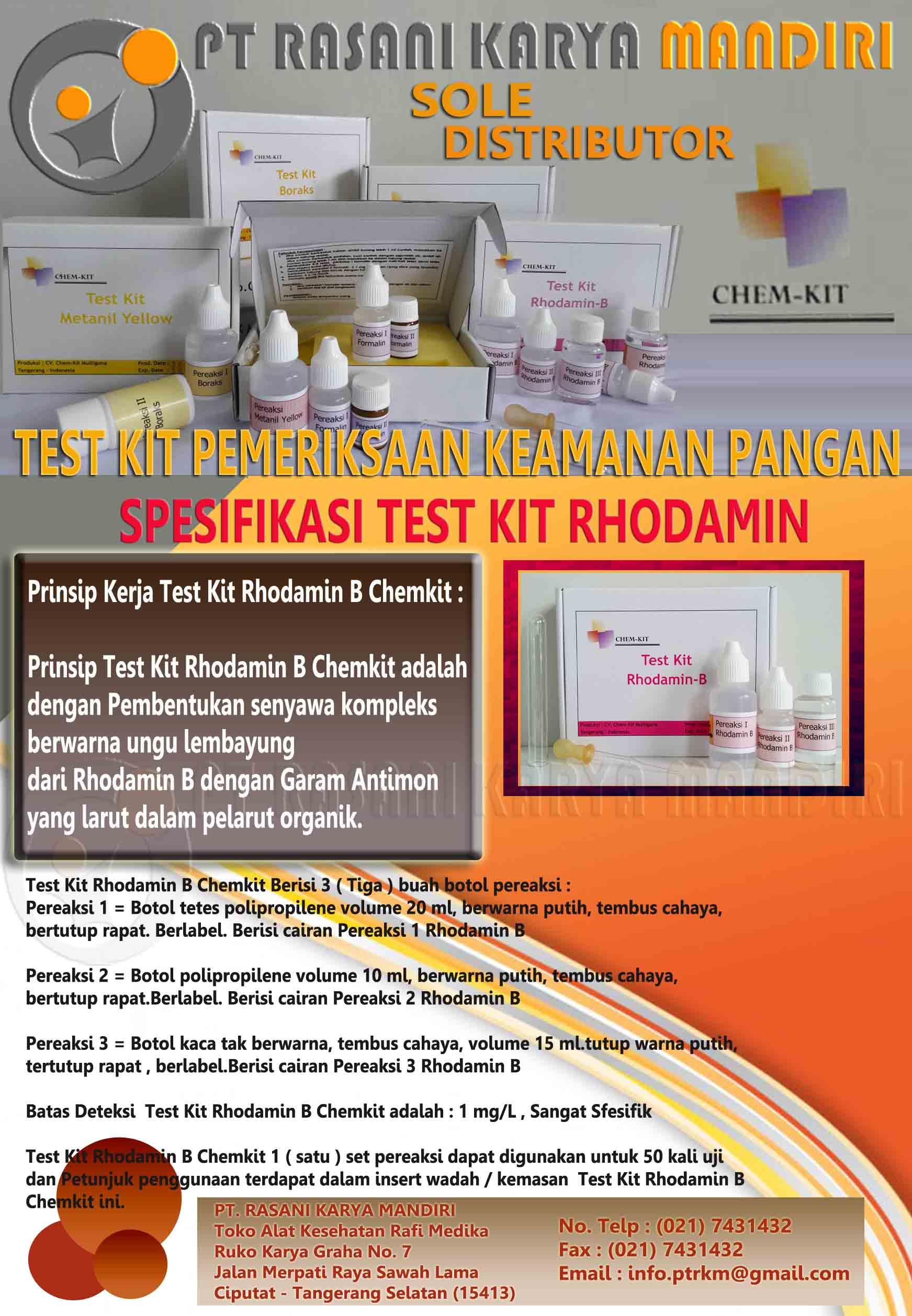 Brosur Tes Kit Rhodamin B Chemkit