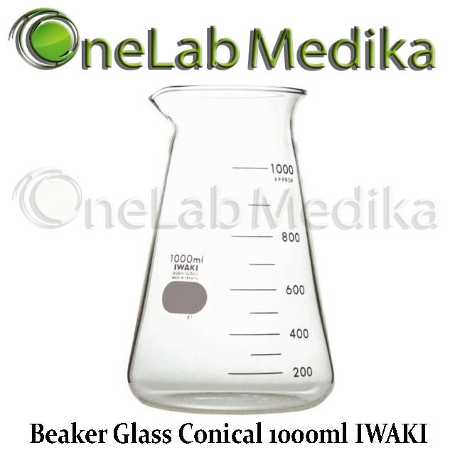 Jual Beaker Glass Conical 1000ml IWAKI murah, berkualitas tangerang selatan, ciputat, laboratorium, bintaro, glassware, pamulang, onelabmedika.com, pt. rasani karya mandiri, ptrkm.com